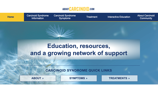 Lexicon Announces the Launch of Aboutcarcinoid.com