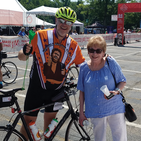 Richard J. Smith with his wife, Maureen at the finish line of the 2018 PMC