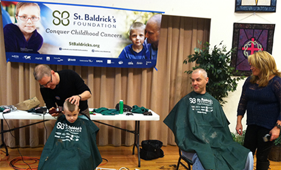 Community Shaves Heads for Childhood Cancer Research