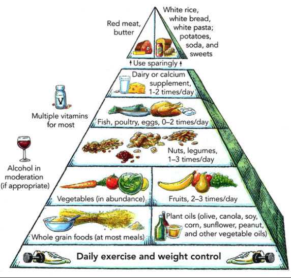 Sample recommendations for a Mediterranean diet.