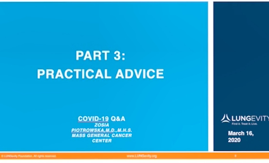 COVID-19 Conversation: Part 3: Practical Advice